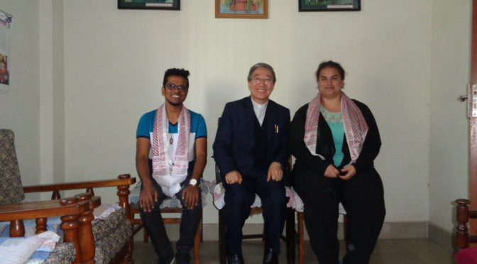 IMCS representatives meeting Nepalese Bishop, Most rev. Paul Simick