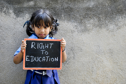 Education is a right. Not a commodity!